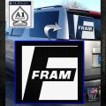 Fram Logo2 RDZ Decal Sticker White Emblem 120x120