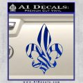 French Cross Fluer De Lis Zebra Decal Sticker Blue Vinyl 120x120