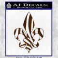 French Cross Fluer De Lis Zebra Decal Sticker Brown Vinyl 120x120