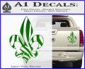 French Cross Fluer De Lis Zebra Decal Sticker Green Vinyl 120x97