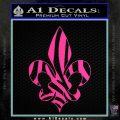French Cross Fluer De Lis Zebra Decal Sticker Hot Pink Vinyl 120x120