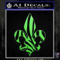 French Cross Fluer De Lis Zebra Decal Sticker Lime Green Vinyl 120x120