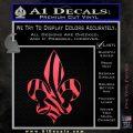French Cross Fluer De Lis Zebra Decal Sticker Pink Vinyl Emblem 120x120