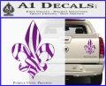 French Cross Fluer De Lis Zebra Decal Sticker Purple Vinyl 120x97