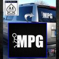 Fuck MPG Decal Sticker White Emblem 120x120