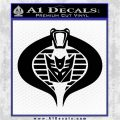 GI Joe Cobra Decepticon Decal Sticker D2 Black Logo Emblem 120x120