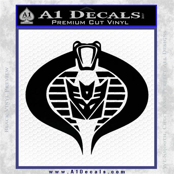 Gi Joe Cobra Decepticon Decal Sticker D2 187 A1 Decals