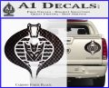 GI Joe Cobra Decepticon Decal Sticker D2 Carbon Fiber Black 120x97