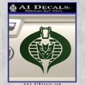 GI Joe Cobra Decepticon Decal Sticker D2 Dark Green Vinyl 120x120
