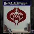 GI Joe Cobra Decepticon Decal Sticker D2 Dark Red Vinyl 120x120