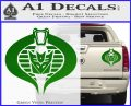 GI Joe Cobra Decepticon Decal Sticker D2 Green Vinyl 120x97
