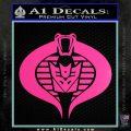 GI Joe Cobra Decepticon Decal Sticker D2 Hot Pink Vinyl 120x120