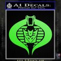 GI Joe Cobra Decepticon Decal Sticker D2 Lime Green Vinyl 120x120