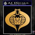 GI Joe Cobra Decepticon Decal Sticker D2 Metallic Gold Vinyl 120x120