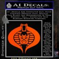 GI Joe Cobra Decepticon Decal Sticker D2 Orange Vinyl Emblem 120x120