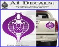 GI Joe Cobra Decepticon Decal Sticker D2 Purple Vinyl 120x97