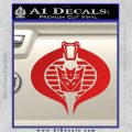 GI Joe Cobra Decepticon Decal Sticker D2 Red Vinyl 120x120