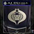 GI Joe Cobra Decepticon Decal Sticker D2 Silver Vinyl 120x120