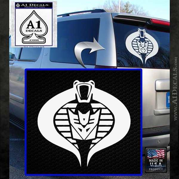 GI Joe Cobra Decepticon Decal Sticker D2 White Emblem