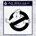 Ghostbuster Vinyl Decal Sticker CR Black Logo Emblem 120x120