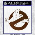 Ghostbuster Vinyl Decal Sticker CR Brown Vinyl 120x120