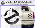 Ghostbuster Vinyl Decal Sticker CR Carbon Fiber Black 120x97