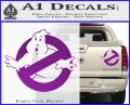 Ghostbuster Vinyl Decal Sticker CR Purple Vinyl 120x97