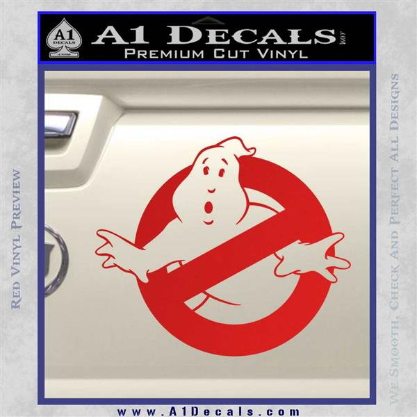 Ghostbuster Vinyl Decal Sticker CR Red Vinyl