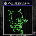 Great Gazoo Alien Decal Sticker VZL Lime Green Vinyl 120x120