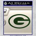 Green Bay Packers Decal Sticker OV1 Dark Green Vinyl 120x120