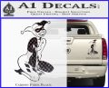 Harley Quin Sexy Pose Decal Sticker Carbon Fiber Black 120x97