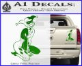 Harley Quin Sexy Pose Decal Sticker Green Vinyl 120x97