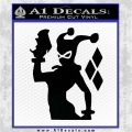 Harley Quinn D8 Decal Sticker Black Logo Emblem 120x120