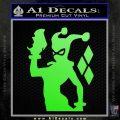 Harley Quinn D8 Decal Sticker Lime Green Vinyl 120x120