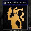 Harley Quinn D8 Decal Sticker Metallic Gold Vinyl 120x120