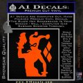Harley Quinn D8 Decal Sticker Orange Vinyl Emblem 120x120