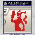 Harley Quinn D8 Decal Sticker Red Vinyl 120x120