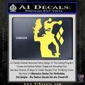 Harley Quinn D8 Decal Sticker Yelllow Vinyl 120x120