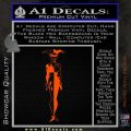 Harley Quinn DS Decal STicker Orange Vinyl Emblem 120x120