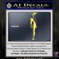 Harley Quinn DS Decal STicker Yelllow Vinyl 120x120
