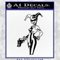Harley Quinn Int Decal Sticker Black Logo Emblem 120x120