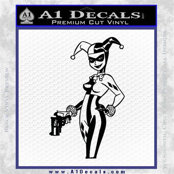 Harley Quinn Int Decal Sticker Black Logo Emblem