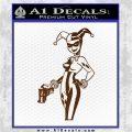 Harley Quinn Int Decal Sticker Brown Vinyl 120x120