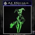 Harley Quinn Int Decal Sticker Lime Green Vinyl 120x120