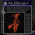 Harley Quinn Int Decal Sticker Orange Vinyl Emblem 120x120