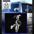 Harley Quinn Int Decal Sticker White Emblem 120x120