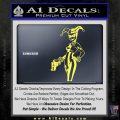 Harley Quinn Int Decal Sticker Yelllow Vinyl 120x120