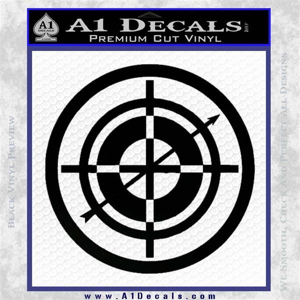 Hawkeye Target Scope emblem Drama Online Store Powered by Storenvy DLB Decal Sticker Black Logo Emblem