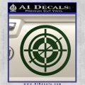 Hawkeye Target Scope emblem Drama Online Store Powered by Storenvy DLB Decal Sticker Dark Green Vinyl 120x120