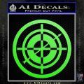 Hawkeye Target Scope emblem Drama Online Store Powered by Storenvy DLB Decal Sticker Lime Green Vinyl 120x120
